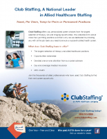 Club Staffing – One Sheet