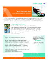 Staff Care Test the Waters – One Sheet