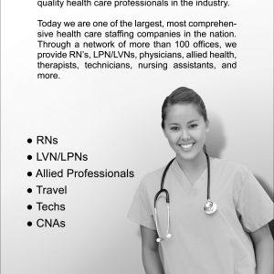 Nursefinders Print Ad