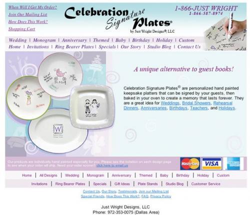Celebration Signature Plates