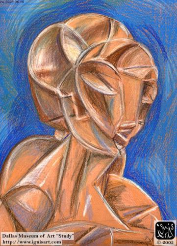 DMA Cubist Head